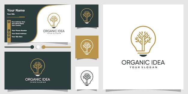 Logo biologico con stile artistico e business Vettore Premium