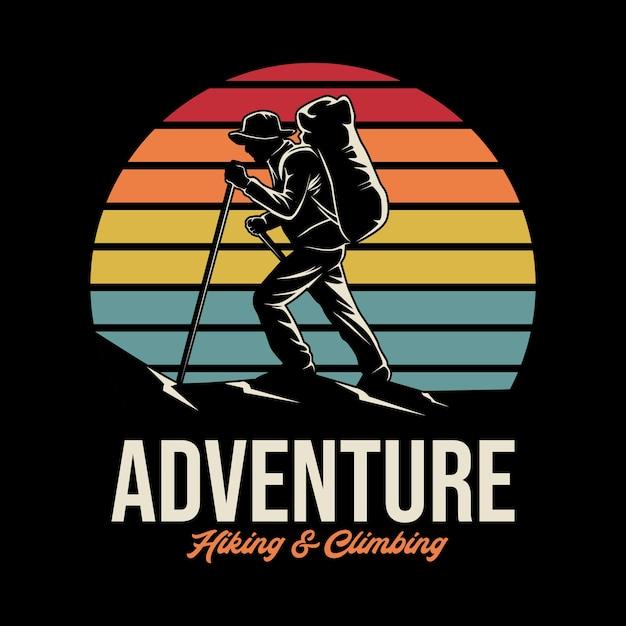 Illustrazione di avventura all'aperto Vettore Premium