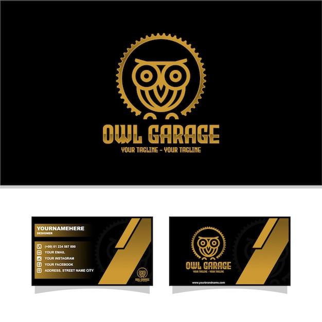 Garage del gufo Vettore Premium