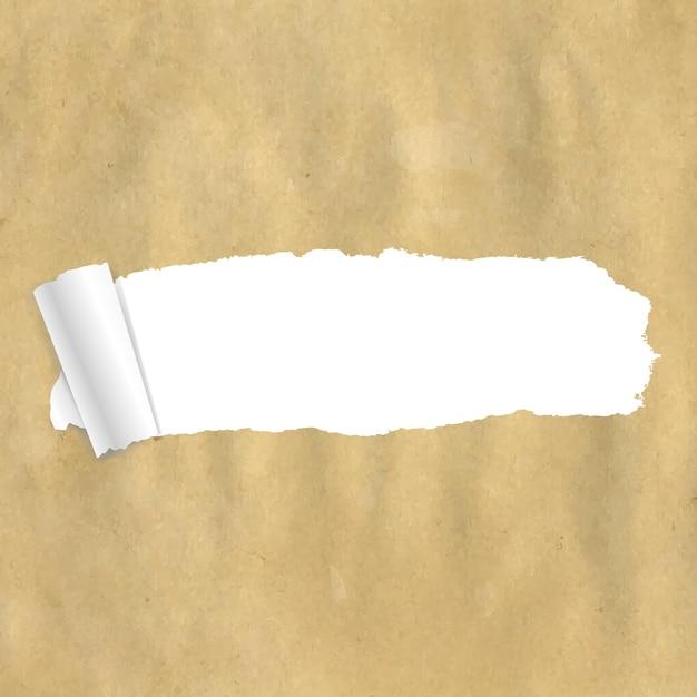 Confezione di carta strappata con maglie sfumate, Vettore Premium
