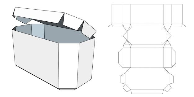 Progetto di imballaggio. scatola di cartone. modello del pacchetto. Vettore Premium