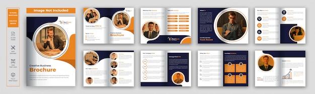 Modello di brochure aziendale di pagine Vettore Premium