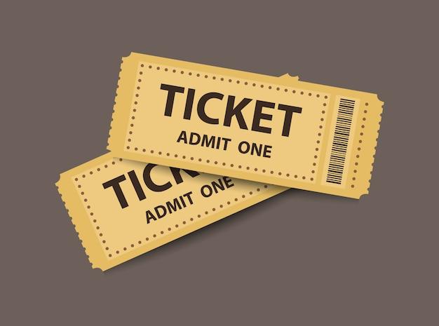 Coppia di biglietti stub Vettore Premium