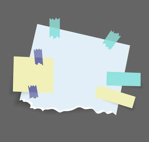 Progettazione di adesivi di note di carta Vettore Premium