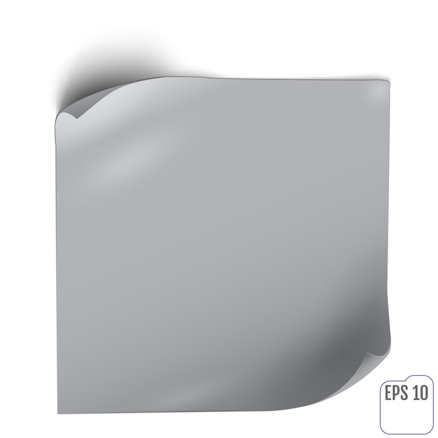 Adesivo di carta con ombra Vettore Premium