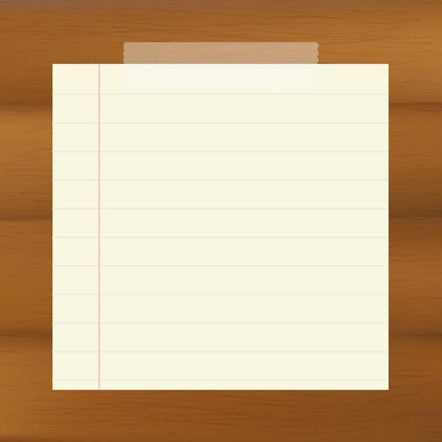 Carta su sfondo marrone in legno, Vettore Premium