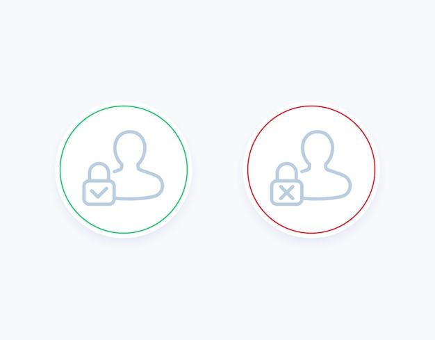 Controllo genitori attivato, disattivato le icone Vettore Premium