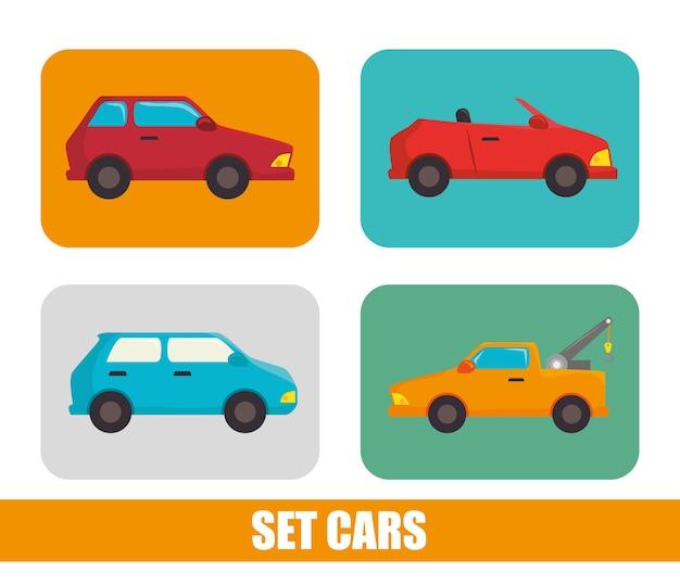 Parcheggio o area di parcheggio Vettore Premium