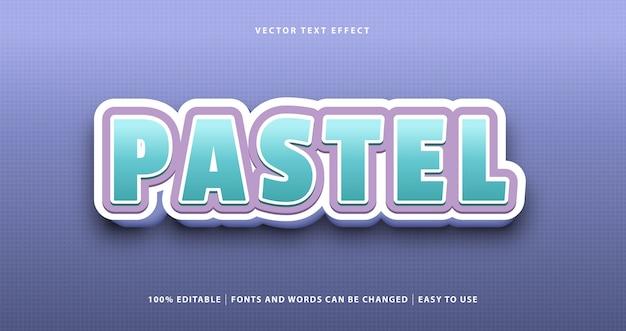 Pastello viola rosa blu colorato stile effetto di testo. Vettore Premium
