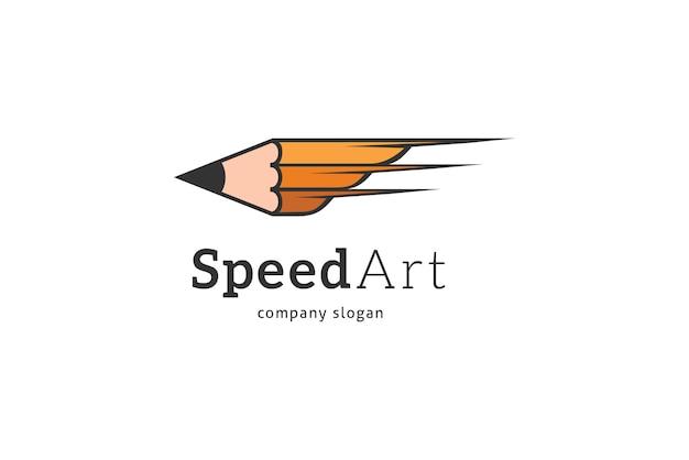Logo a matita Vettore Premium