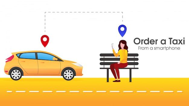 Le persone ordinano il trasporto online Vettore Premium
