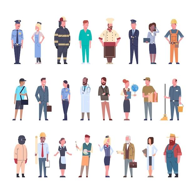La gente raggruppa l'insieme differente di occupazione Vettore Premium