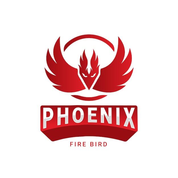 Concetto di logo di phoenix Vettore Premium