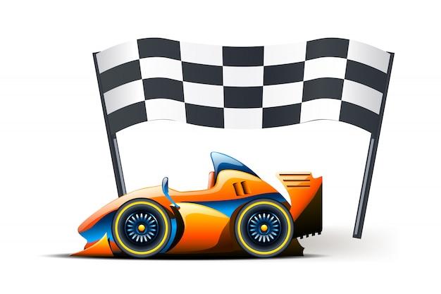 Immagine della bandiera Vettore Premium