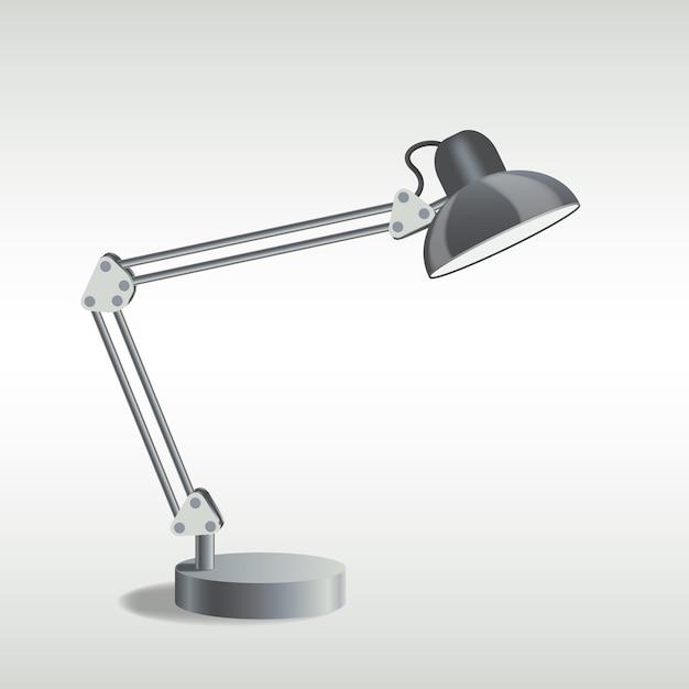 Immagine della lampada da tavolo Vettore Premium