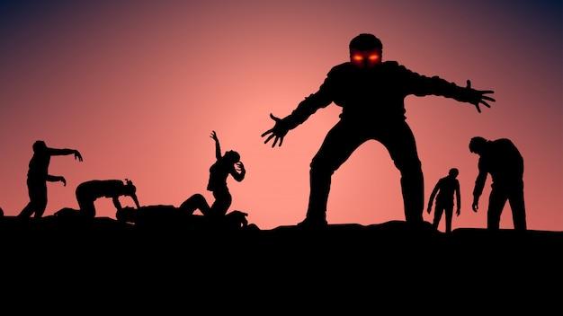 Foto di zombie Vettore Premium
