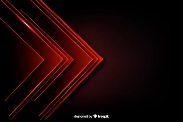 Mucchio del triangolo rosso illumina la priorità bassa Vettore Premium