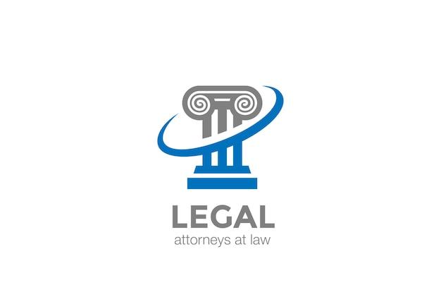 Pillar lawyer law logo. Vettore Premium