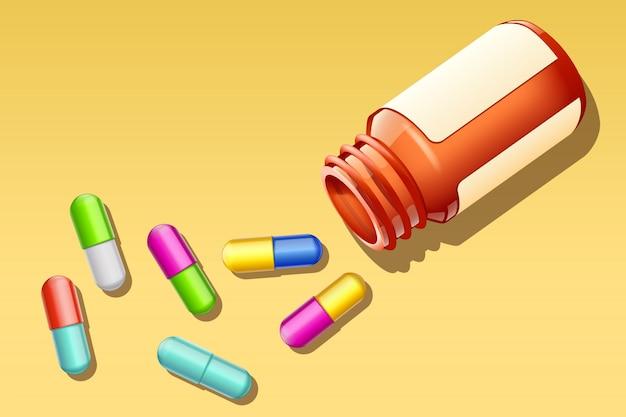 Pillole molto Vettore Premium