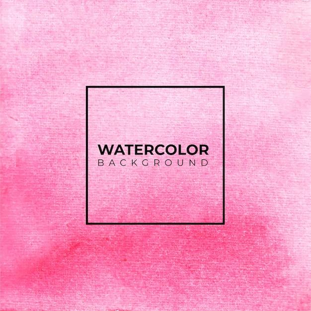 Sfondo acquerello astratto rosa, pittura a mano. spruzzi di colore sulla carta Vettore Premium