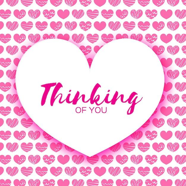 Cartolina d'auguri di felice giorno di san valentino rosa. Vettore Premium