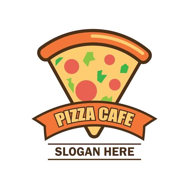 Logo di pizza con spazio di testo per il tuo slogan Vettore Premium