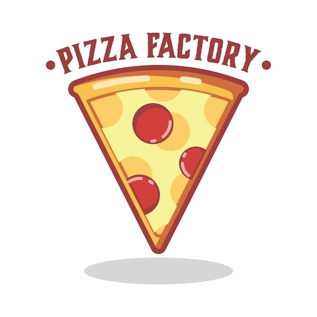 Logo della pizza Vettore Premium