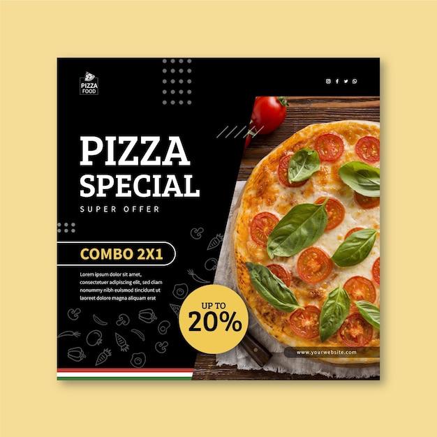 Modello di volantino ristorante pizzeria Vettore Premium