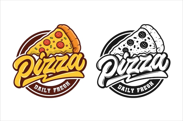 Collezione logo pizzeria Vettore Premium