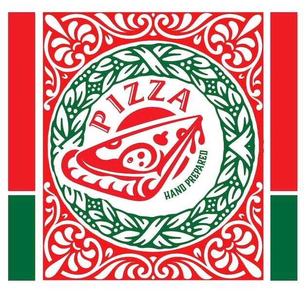 Logo ristorante pizzeria in stile vintage. Vettore Premium