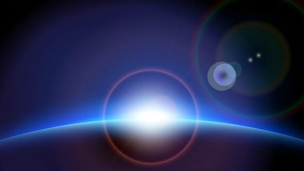 Planet sun1 Vettore Premium