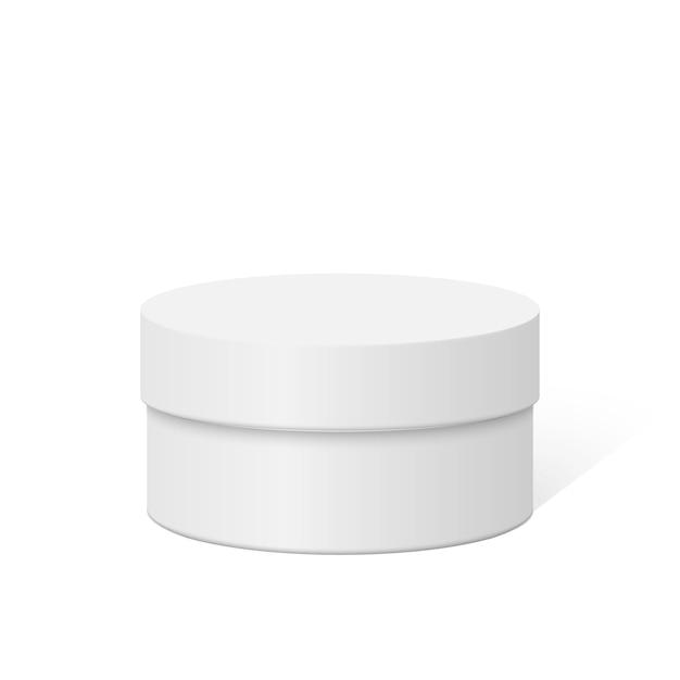 Contenitore tondo in plastica Vettore Premium