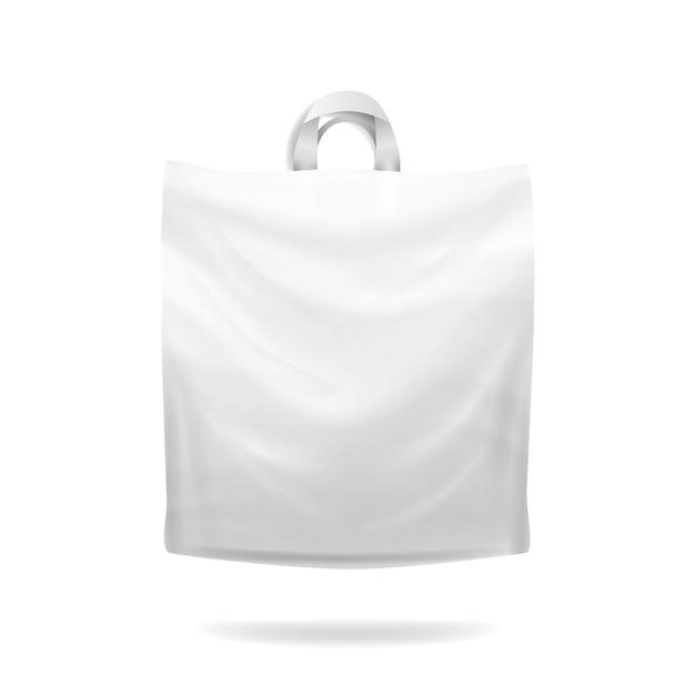 Borsa della spesa in plastica Vettore Premium