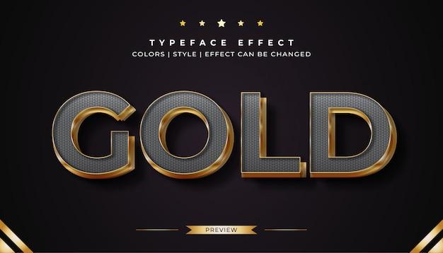 Effetto stile testo platino e oro Vettore Premium