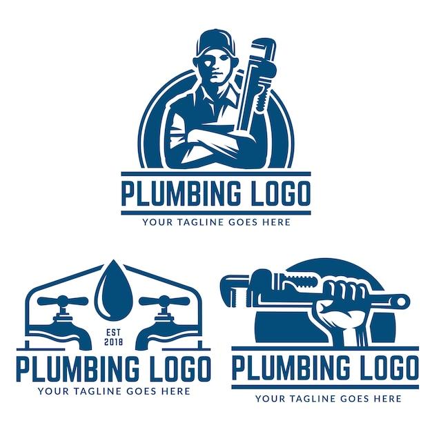 Modello logo idraulico Vettore Premium