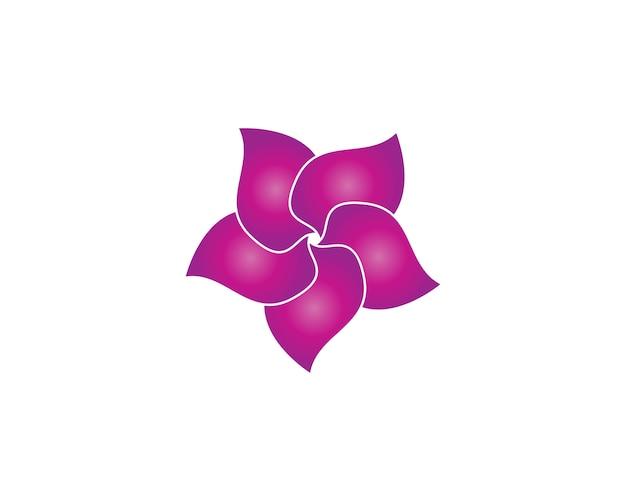 Logo di bellezza fiore plumeria Vettore Premium