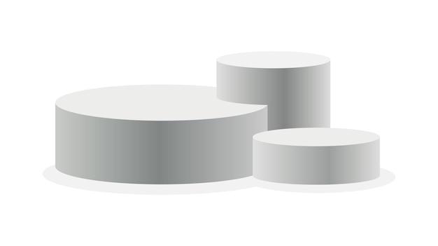 Podio design realistico del piedistallo Vettore Premium