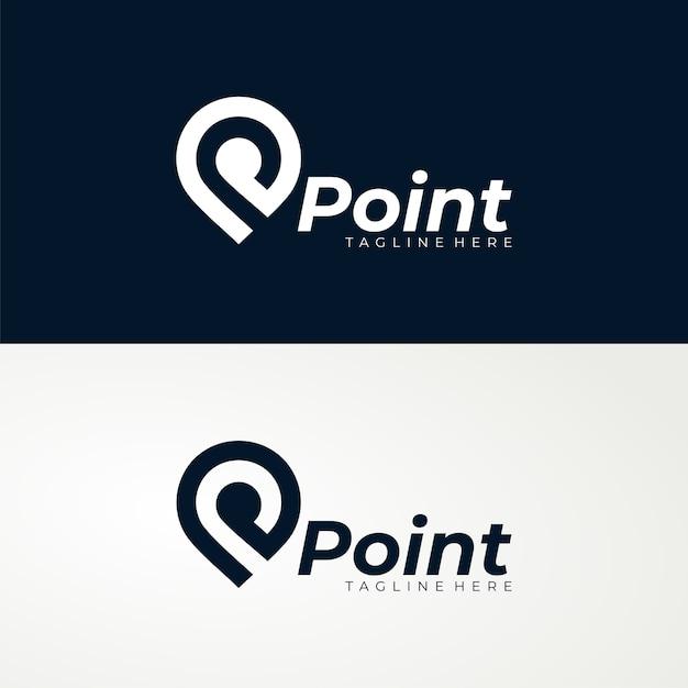 Modello di logo del punto Vettore Premium