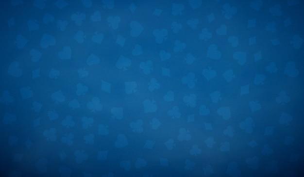 Tavolo da poker sfondo in colore blu. Vettore Premium