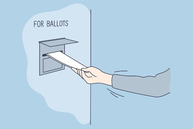 Politica, elezione, america, concetto di voto. Vettore Premium
