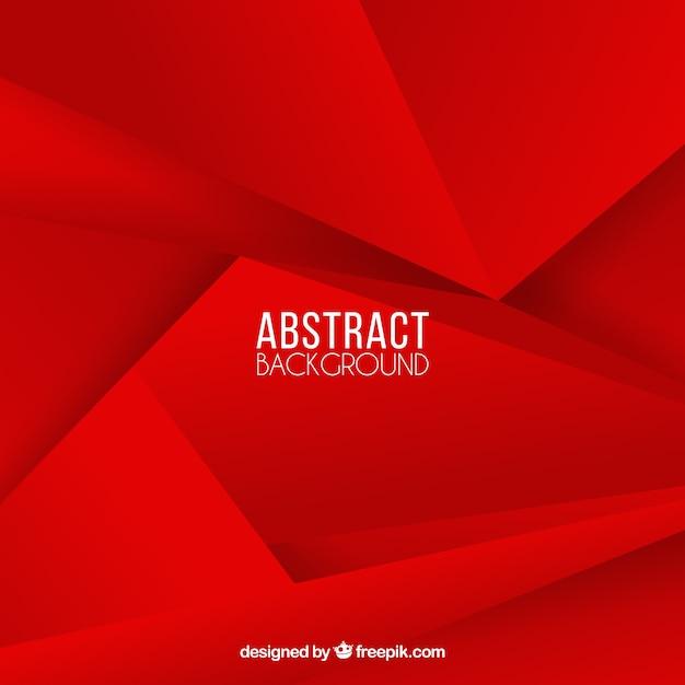 Sfondo rosso poligonale Vettore Premium