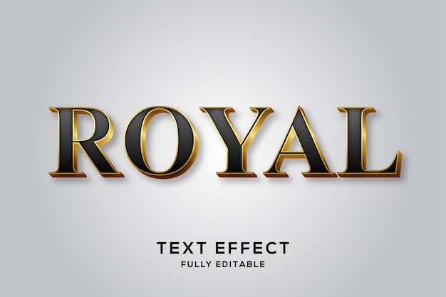 Premium black & gold royal text effect Vettore Premium