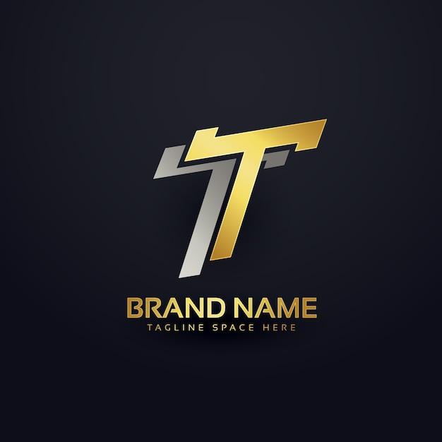 Progettazione del fondo di concetto di marchio lettera t premium Vettore Premium