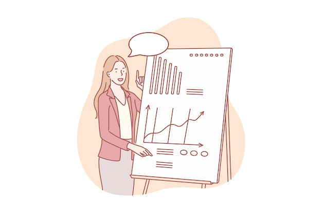 Presentazione del concetto di progetto commerciale Vettore Premium