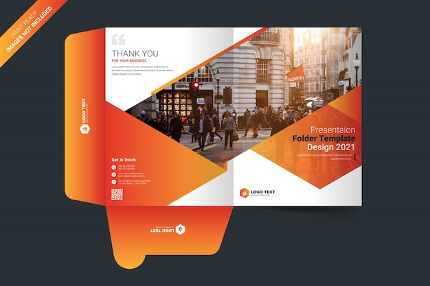 Modello di cartella di presentazione Vettore Premium