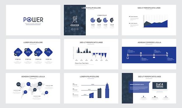 Modelli di diapositive di presentazione e brochure aziendali. Vettore Premium
