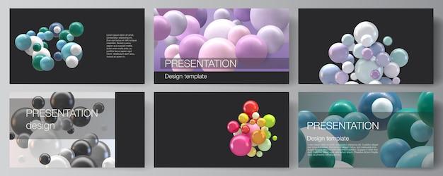Diapositive di presentazione modelli di progettazione, modello multiuso per la presentazione Vettore Premium