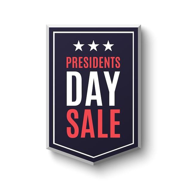 Bandiera di vendita di giorno di presidenti, isolata su priorità bassa bianca. Vettore Premium