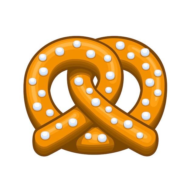 Icona di pretzel su sfondo bianco. Vettore Premium