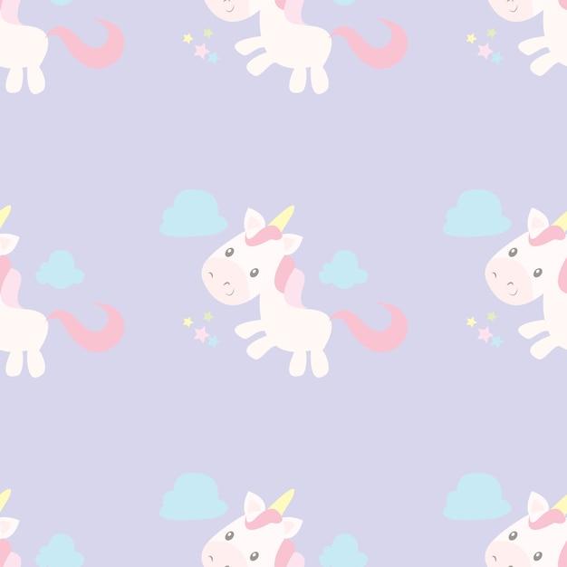 Stampa modello unicorno Vettore Premium